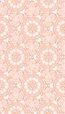 Een oranje vector naadloze achtergrond met elegant mooi patroon Stock Afbeelding