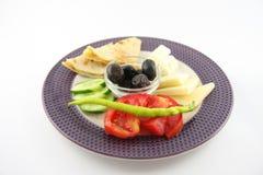 Een organisch ontbijt stock foto