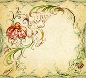 Een originele achtergrond is de getrokken elementen Royalty-vrije Stock Afbeelding