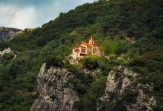 Een orthodox klooster Prodromou - Griekenland stock afbeeldingen