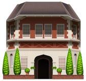 Een oud commercieel gebouw royalty-vrije illustratie