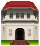 Een oud commercieel gebouw vector illustratie
