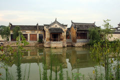 Een oud dorp in Anhui-provincie, China Stock Fotografie