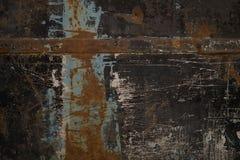 Een oud geschilderd zwart ijzer royalty-vrije stock afbeelding