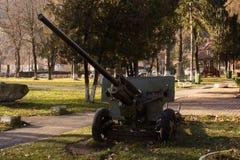 Een oud kanon in het park Royalty-vrije Stock Foto's