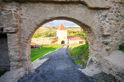 Een oud kasteel in Transsylvanië Roemenië Stock Foto