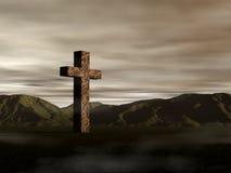 Een oud kruis royalty-vrije illustratie