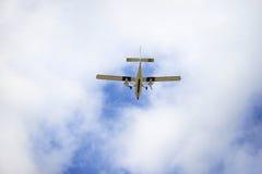 Een Oud Propellervliegtuig in Frankrijk Stock Foto