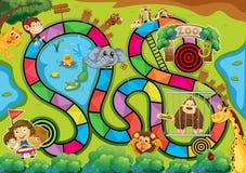 Een oud spel royalty-vrije illustratie