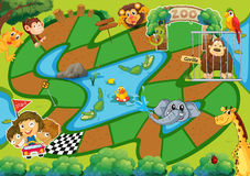 Een oud spel Stock Afbeelding