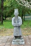 Een oud standbeeld bij Tintstad Vietnam Stock Afbeelding