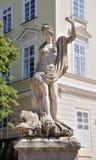 Een oud standbeeld van Amphitrite Stock Afbeelding