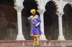 Een oud tijdkarakter in Lahore-Fort, Lahore, Punjab, Pakistan royalty-vrije stock fotografie