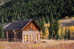 Een oud verlaten huis in Ashcroft, Colorado Stock Fotografie