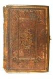Een oude bijbel, die in 1865 wordt afgedrukt. stock afbeeldingen