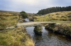 De Beek van Walla op Dartmoor Stock Afbeelding