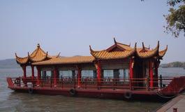 Een oude Chinese boot Stock Afbeelding