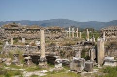 Een oude Griekse advertentie Maeandrum, Turkije van de stadsmagnesia royalty-vrije stock afbeeldingen