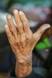 Een oude hand, hand Royalty-vrije Stock Fotografie