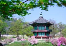 Een oude historische pavillion in Seoel, Korea. Royalty-vrije Stock Fotografie