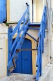 Een oude houten trap Stock Fotografie