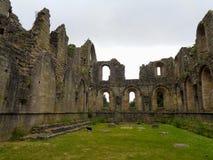 een oude kerkruïne in Engeland stock fotografie