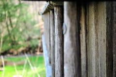 Een oude ladder stock foto