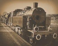 Een oude locomotief royalty-vrije stock afbeelding