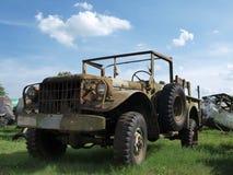 Een oude militaire Jeep Royalty-vrije Stock Afbeelding