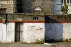 Een oude muur voor achtergrondgebruik Stock Afbeelding