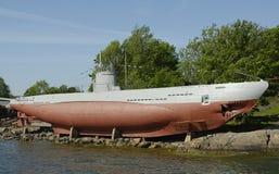 Een oude onderzeeër stock fotografie