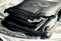 Een oude portefeuille Stock Afbeelding