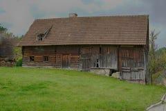 Een oude schuur in Beieren Stock Afbeelding