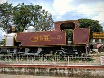 Een oude spoormotor Stock Foto