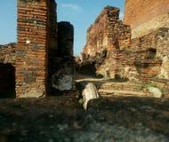 Een oude stad in Ayudhaya royalty-vrije stock foto's
