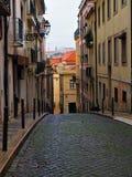 Een oude straat royalty-vrije stock afbeeldingen