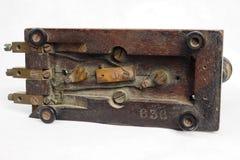 Een oude telegraaf stock foto's