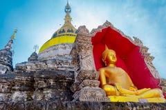 Een oude tempel bouwde 500 stem vóór geleden is zeer beroemd onder toeristen stock foto