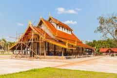 Een oude tempel in herstelling Royalty-vrije Stock Afbeelding