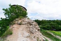Een oude toren op een heuvel Royalty-vrije Stock Afbeelding