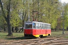 Een oude tram Royalty-vrije Stock Afbeelding