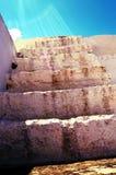 Een oude trap in stenen Stock Fotografie