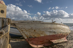 Verlaten boot stock afbeelding