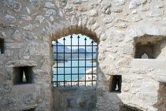 Een oude versterkte toren Stock Foto's