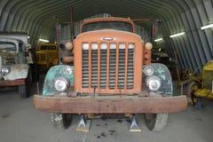 Een oude vrachtwagen bij een museum in whitehorse royalty-vrije stock afbeelding