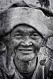 Een oude vrouw Stock Foto