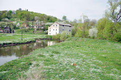 Een oude watermill Stock Foto's