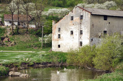 Een oude watermill Royalty-vrije Stock Foto's