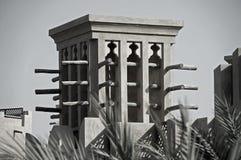 Een oude Windtower in Doubai Stock Afbeelding