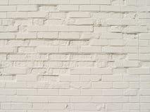 Een Oude Witte Bakstenen muur Stock Foto's
